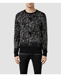 AllSaints | Gray Canopy Crew Sweater | Lyst