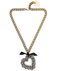 Lanvin | Metallic Mira Heart Pendant Necklace | Lyst