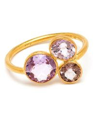 Marie-hélène De Taillac - Purple 18Kt Yellow Gold And Spinel Ring - Lyst