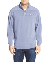 Vineyard Vines | Blue 'shep' Quarter Zip Pullover for Men | Lyst