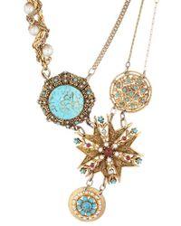 Maria Zureta | Blue Turquoise Necklace W/ Varying Pendants | Lyst