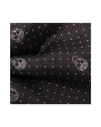 Alexander McQueen - Black Skull Polka Dots Tie for Men - Lyst