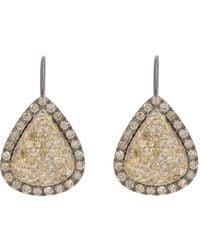 Roberto Marroni - Green Yellow Diamond, Brown Diamond & Oxidized Gold Teardrop - Lyst