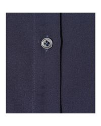 Robert Friedman - Blue Silk Satin Shirt - Lyst