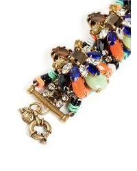 J.Crew | Multicolor Stone Burst Bracelet | Lyst