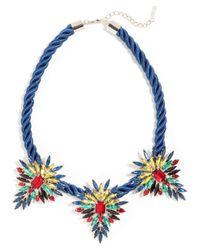BaubleBar | Blue Mohawk Collar | Lyst