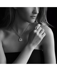 David Yurman - Metallic Albion Ring With Diamonds In Gold, 11mm Gemstone - Lyst