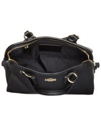 COACH | Black Refined Grain Leather Mini Nolita Satchel | Lyst
