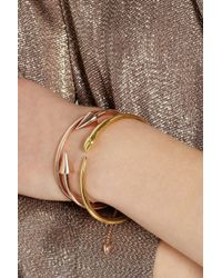 Iam By Ileana Makri | Metallic Tiger Snake Goldplated Tsavorite Bangle | Lyst
