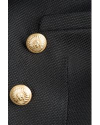 Balmain   Black Bold-Shoulder Blazer   Lyst