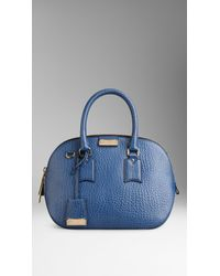 5587e13ec954 Lyst - Burberry The Small Orchard In Signature Grain Leather in Blue