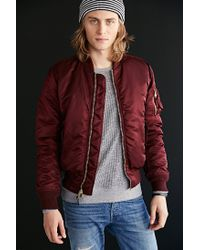 Alpha Industries | Purple X Uo Slim-fit Ma-1 Bomber Jacket for Men | Lyst