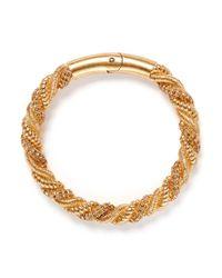 Alexander McQueen - Metallic Crystal Rope Choker - Lyst