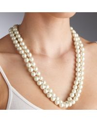 John Lewis - White Long Single Pearl Rope Necklace - Lyst