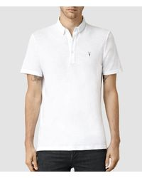 AllSaints - White Henning Polo Usa Usa for Men - Lyst