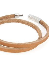 Ted Baker | Brown Flat Leather Bracelet for Men | Lyst