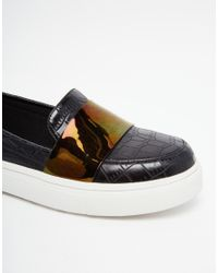 ASOS | Black Dash Loafer Trainers | Lyst