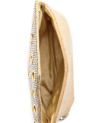 Whiting & Davis - Metallic Grommet Clutch - Lyst