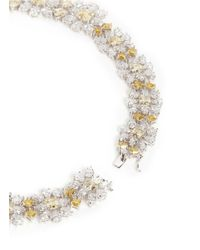 CZ by Kenneth Jay Lane | Green Cubic Zirconia Snowflake Floral Necklace | Lyst