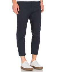 Stampd | Blue Cropped Chino for Men | Lyst