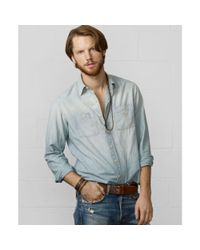 Denim & Supply Ralph Lauren - Blue Flag and Eagle Chambray Shirt for Men - Lyst