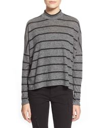 Soprano | Black 'cozy' Stripe Mock Neck Tee | Lyst