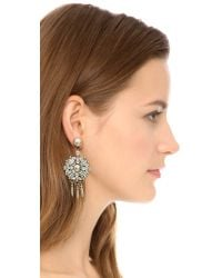DANNIJO | Metallic Rourke Earrings - Clear | Lyst