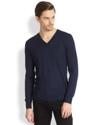 Burberry | Blue Cawour Cashmere Sweater for Men | Lyst