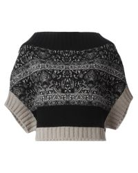 Antonio Marras - Black Boxy Intarsia Sweater - Lyst