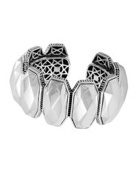 Lagos - Metallic Silver Rocks Hinge Cuff - Lyst