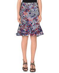 Sacai   Blue Knee Length Skirt   Lyst