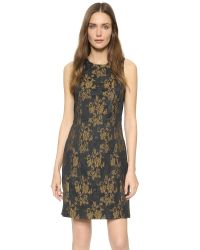 3.1 Phillip Lim - Yellow Brocade Cocktail Dress - Multicolor - Lyst