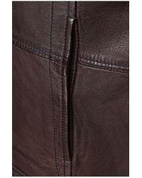 BOSS Orange - Brown Sheepskin Leather Jacket 'jelon' for Men - Lyst