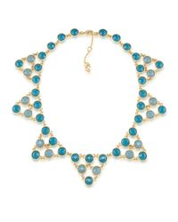 Carolee | Blue Geometric Statement Necklace | Lyst