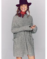 Free People | Gray Zoe Swit Dress | Lyst