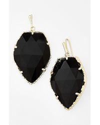 Kendra Scott - Black 'corley' Faceted Stone Drop Earrings - Lyst