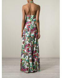 Marco Bologna - White Flower Print Halter Dress - Lyst