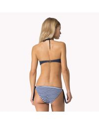 Tommy Hilfiger | Blue Striped Bikini | Lyst