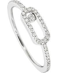 Messika | Metallic Move Uno 18ct White-gold Diamond-set Ring | Lyst