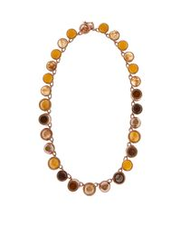 Eddie Borgo - Brown Collage Jasper, Citrine, Pavé & Quartz Necklace - Lyst