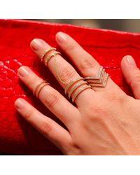 Anne Sisteron - Pink 14kt Rose Gold Diamond V Ring - Lyst