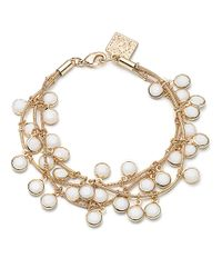 Anne Klein | Metallic Layered Shaky Bead Bracelet | Lyst