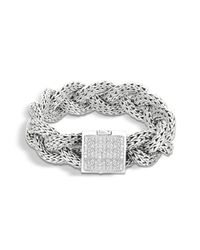 John Hardy - Metallic Large Braided Bracelet - Lyst