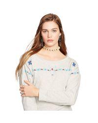 Denim & Supply Ralph Lauren - Gray Beaded Sweatshirt - Lyst