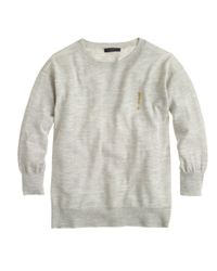 J.Crew - Gray Merino Exclamation Sweater - Lyst