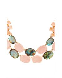 Bounkit | Multicolor Rose Quartz And Labradorite String Necklace | Lyst