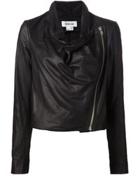 Helmut Lang | Black Draped Jacket | Lyst