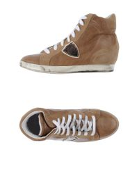 Philippe Model - Natural High-tops & Trainers - Lyst