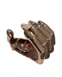 Bernard Delettrez | Metallic Hand Cuff Bracelet | Lyst