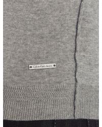 Calvin Klein | Gray Saba V Neck Long Sleeve Sweater for Men | Lyst